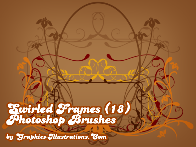 Swirled frames Photoshop brushes set