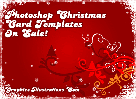 Graphics illustrations photoshop christmas card templates on sale for Photoshop holiday card templates