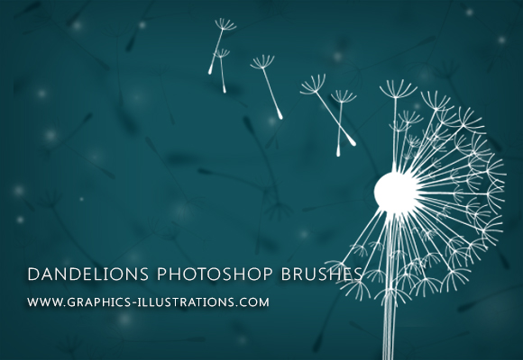 feature post image for Make a Wish... With Dandelions Digital Stamps (Photoshop Brushes)