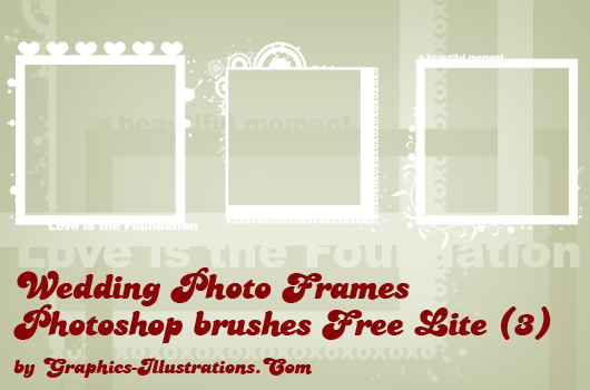 Wedding Photo Frames - Digital Stamps