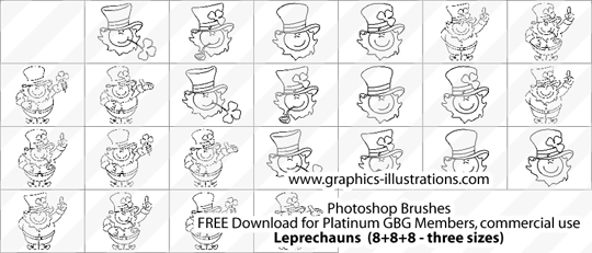 Leprechauns Photoshop brushes by bsilvia