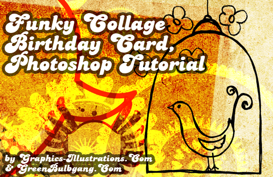 feature post image for Funky Collage Birthday Card, Photoshop Tutorial
