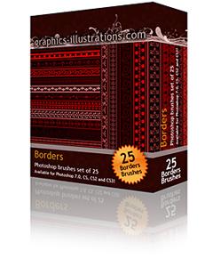 Borders Photoshop Brushes set (25)