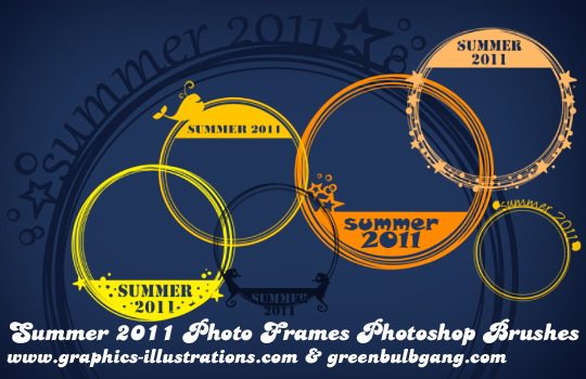 Summer 2011 Photo Frames, Photoshop Brushes