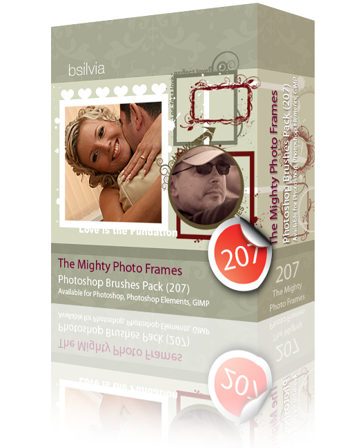 The Mighty Photo Frames Photoshop© Brushes Pack