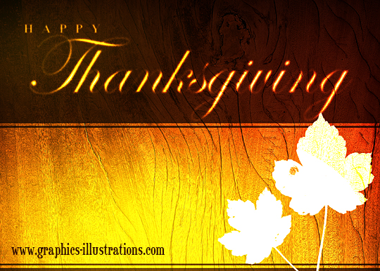 feature post image for Happy Thanksgiving with free graphic, card or background