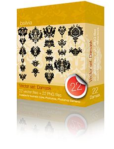 Damask Vector Set (22)
