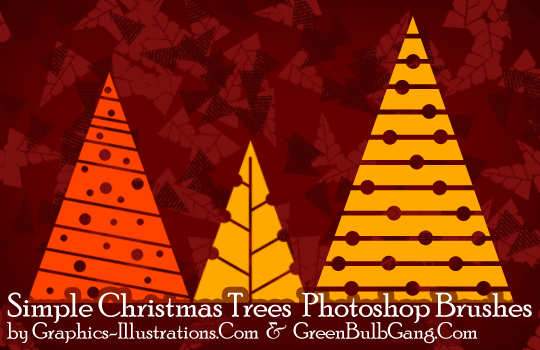 Simple Christmas Trees Photoshop brushes for Platinum members only