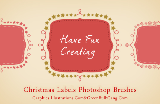 feature post image for Do It Yourself - Christmas Labels (Free Photoshop Brushes set)