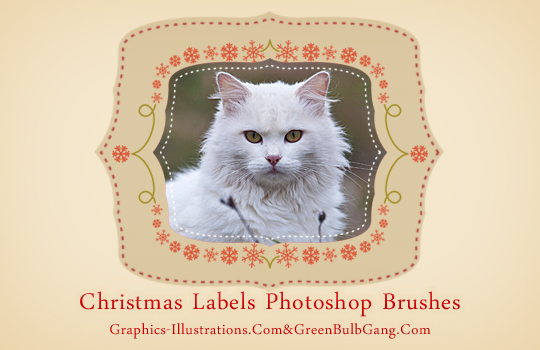 Do It Yourself - Christmas Labels (Free Photoshop Brushes se