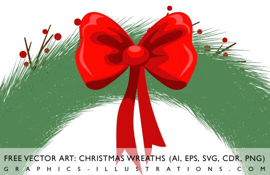 feature post image for Free Vector Art: Christmas Wreaths