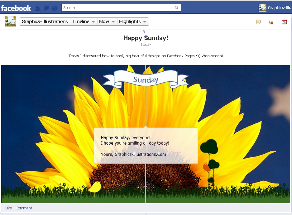 Happy Sunday Facebook Page Design