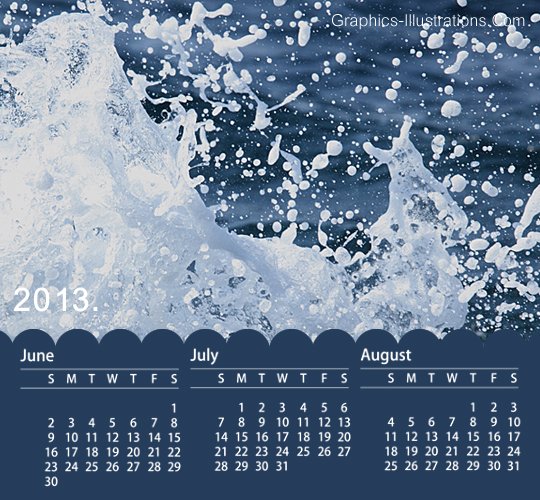 2013 calendar Photoshop Brushes Set