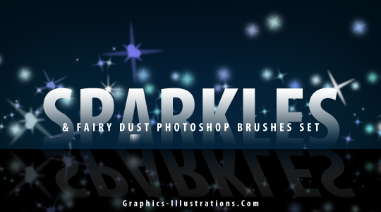 Sparkles And Fairy Dust Free Photoshop brushes set