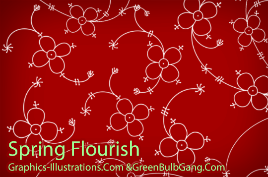 Spring Flourish Photoshop Brushes