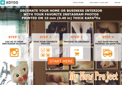 My New Project - Printing Instagram Images on Kapa®fix