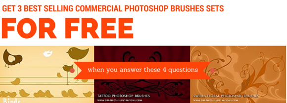 feature post image for Giveaway! Three Best Selling Commercial Photoshop brushes From My Shop!